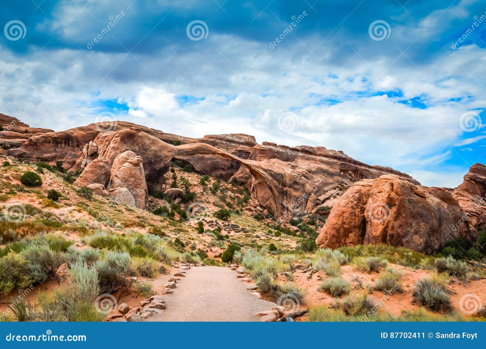 Traînée - parc national de voûtes - Moab, Utah