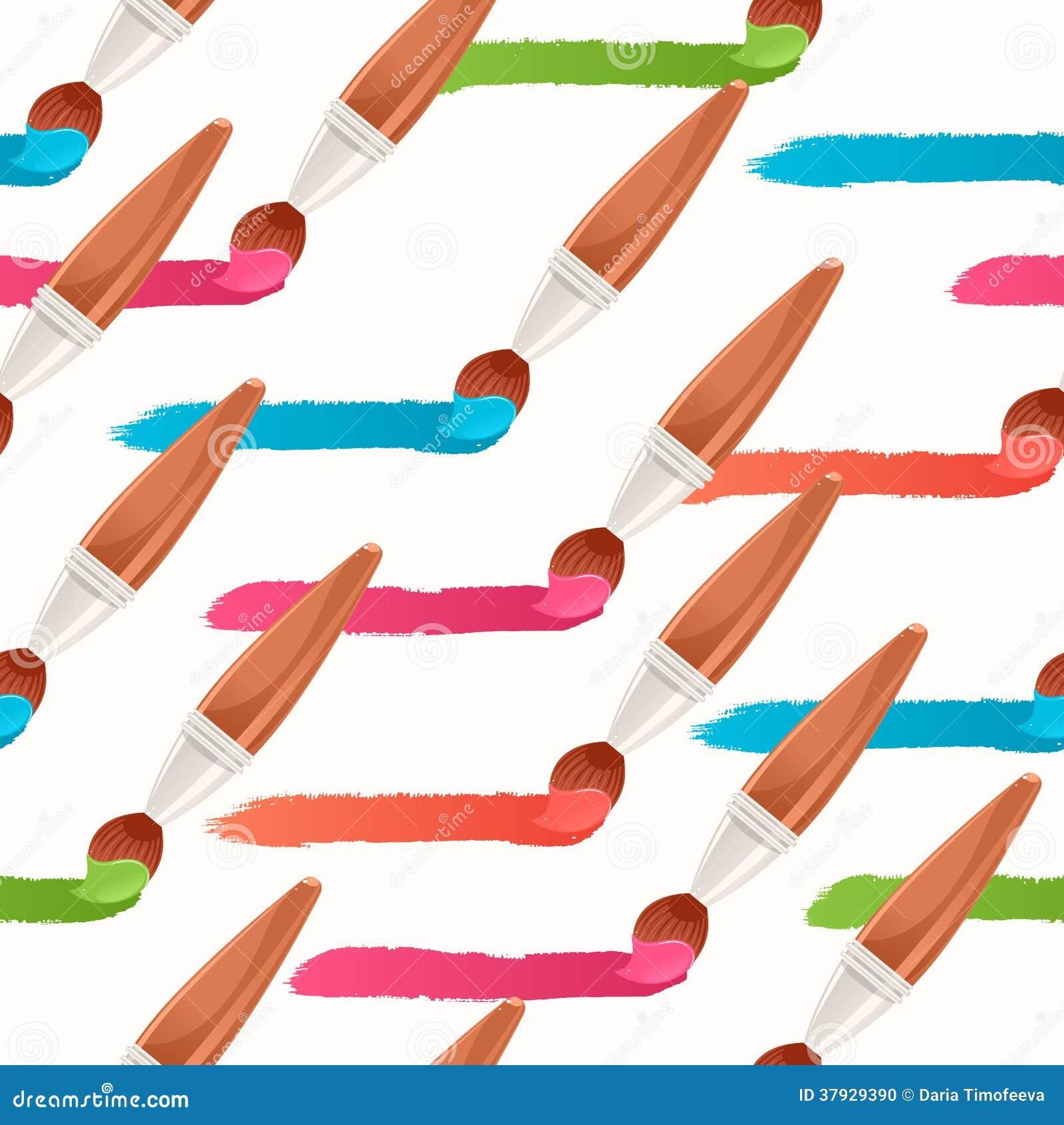 Traînées horizontales colorées sans couture