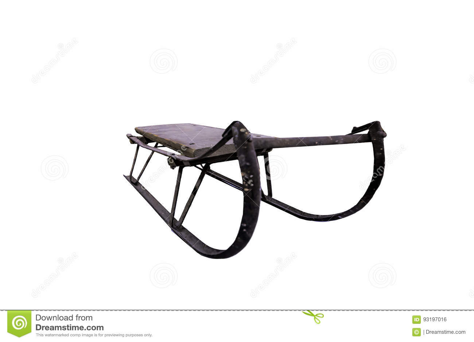 Traîneau antique de neige