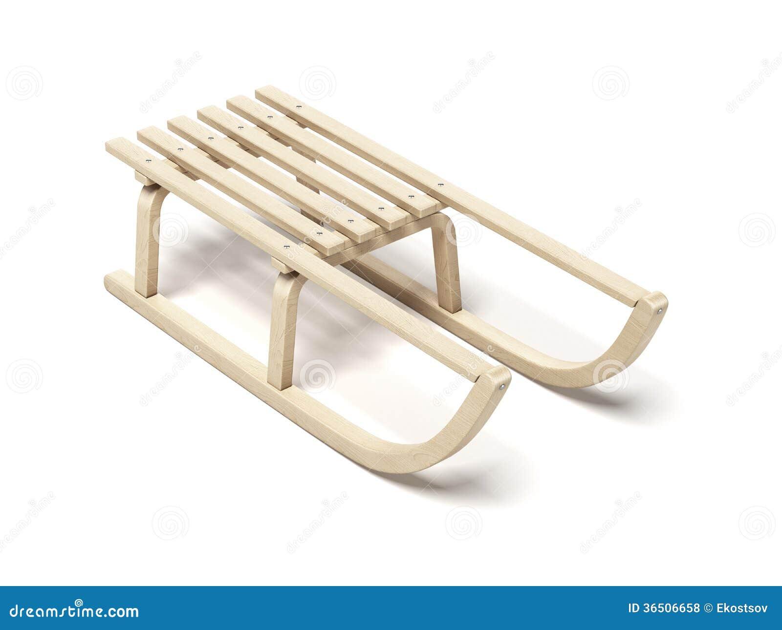 Traîneau en bois classique