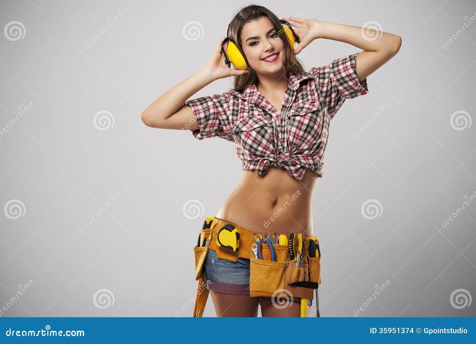 Trabajador atractivo