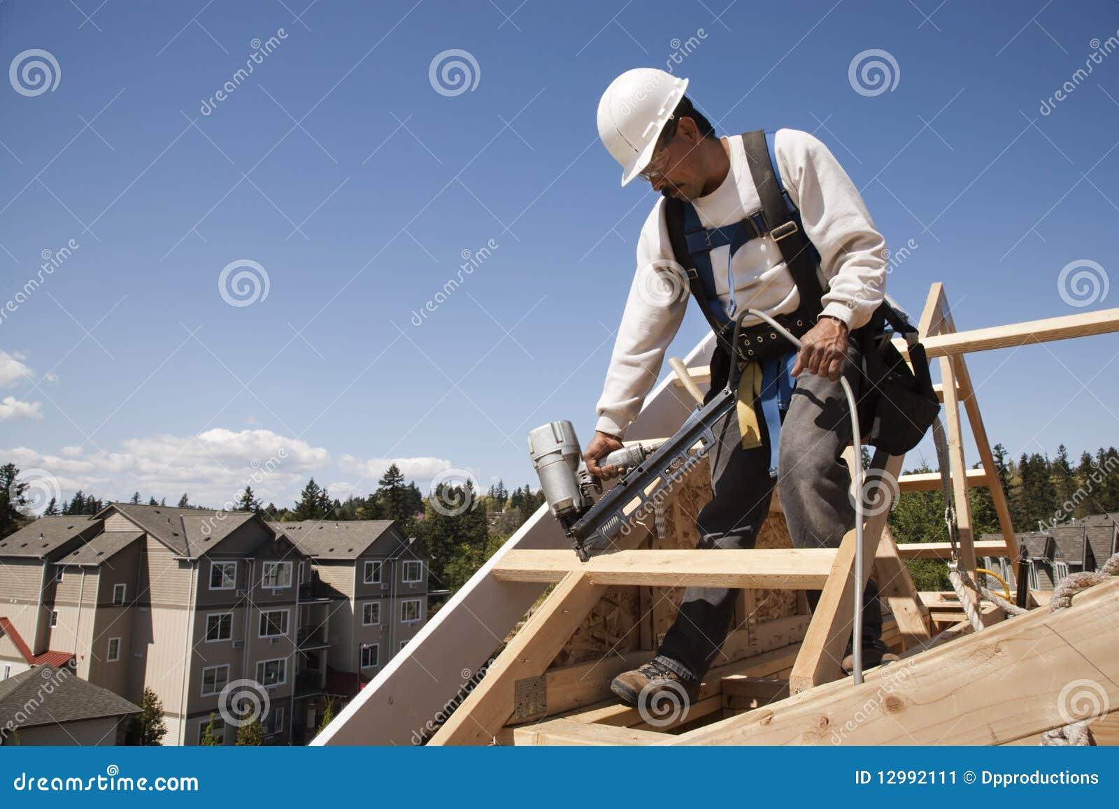 Trabajador de construcción en el trabajo