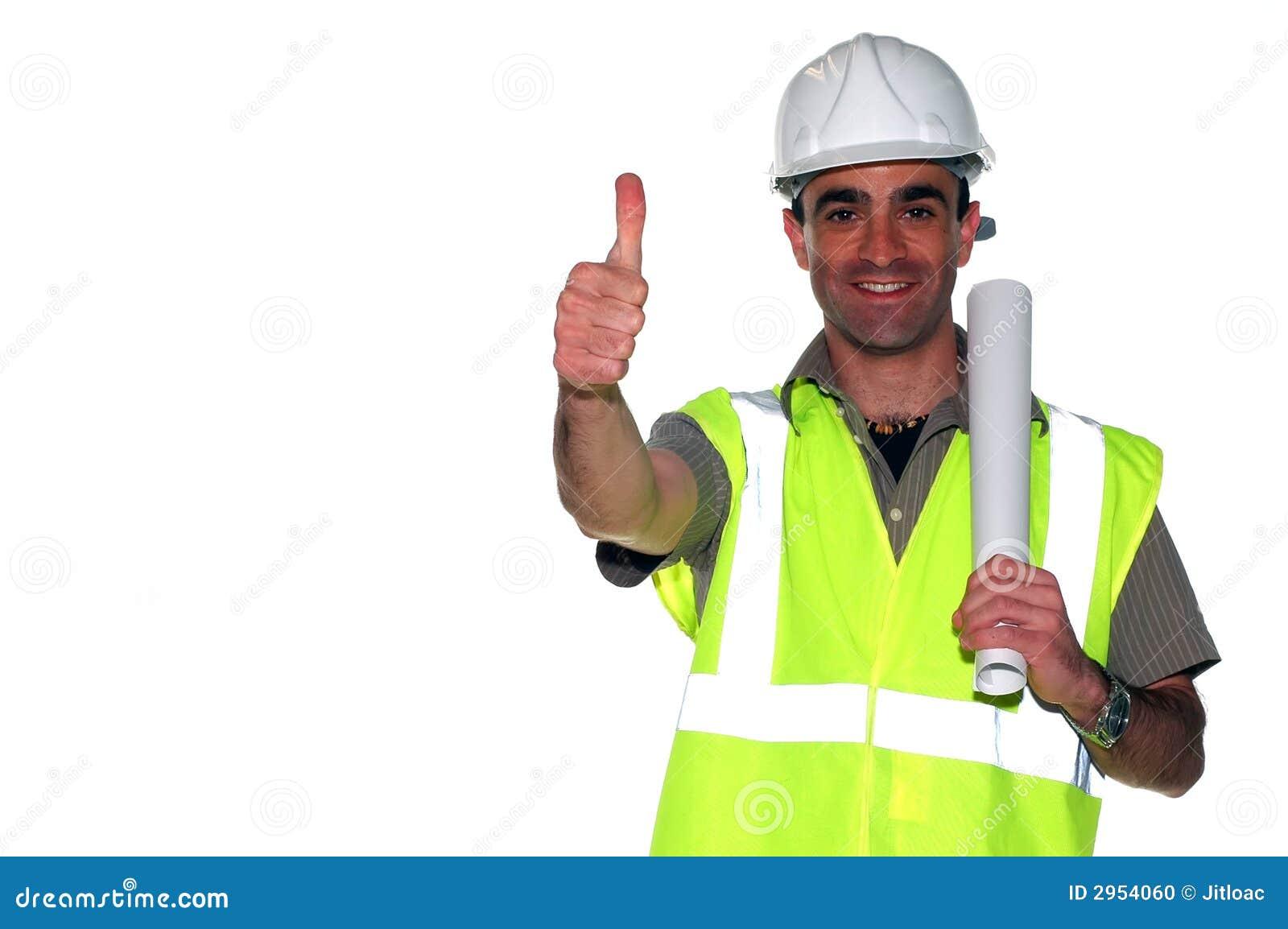 Trabajador De Construcción Feliz Foto de archivo - Imagen de holding ...