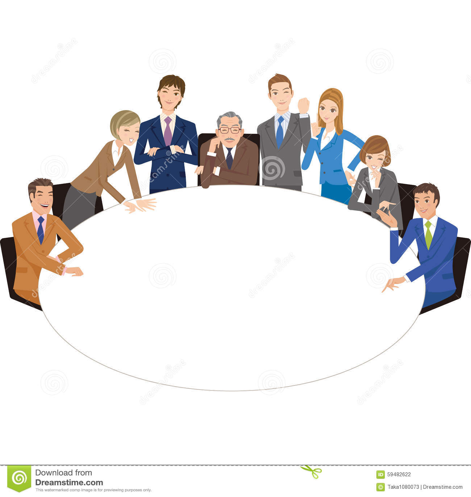 Trabajador de ffice que celebra una reuni n con una mesa - Mesa redonda 4 personas ...