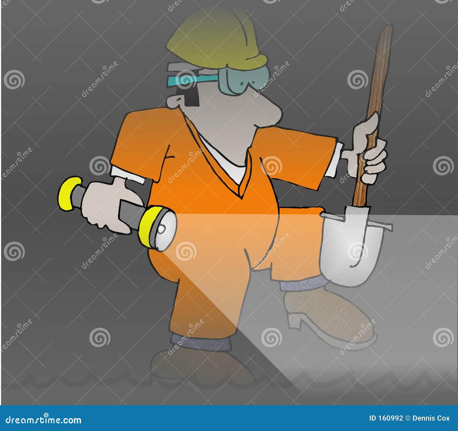 Trabajador de la alcantarilla