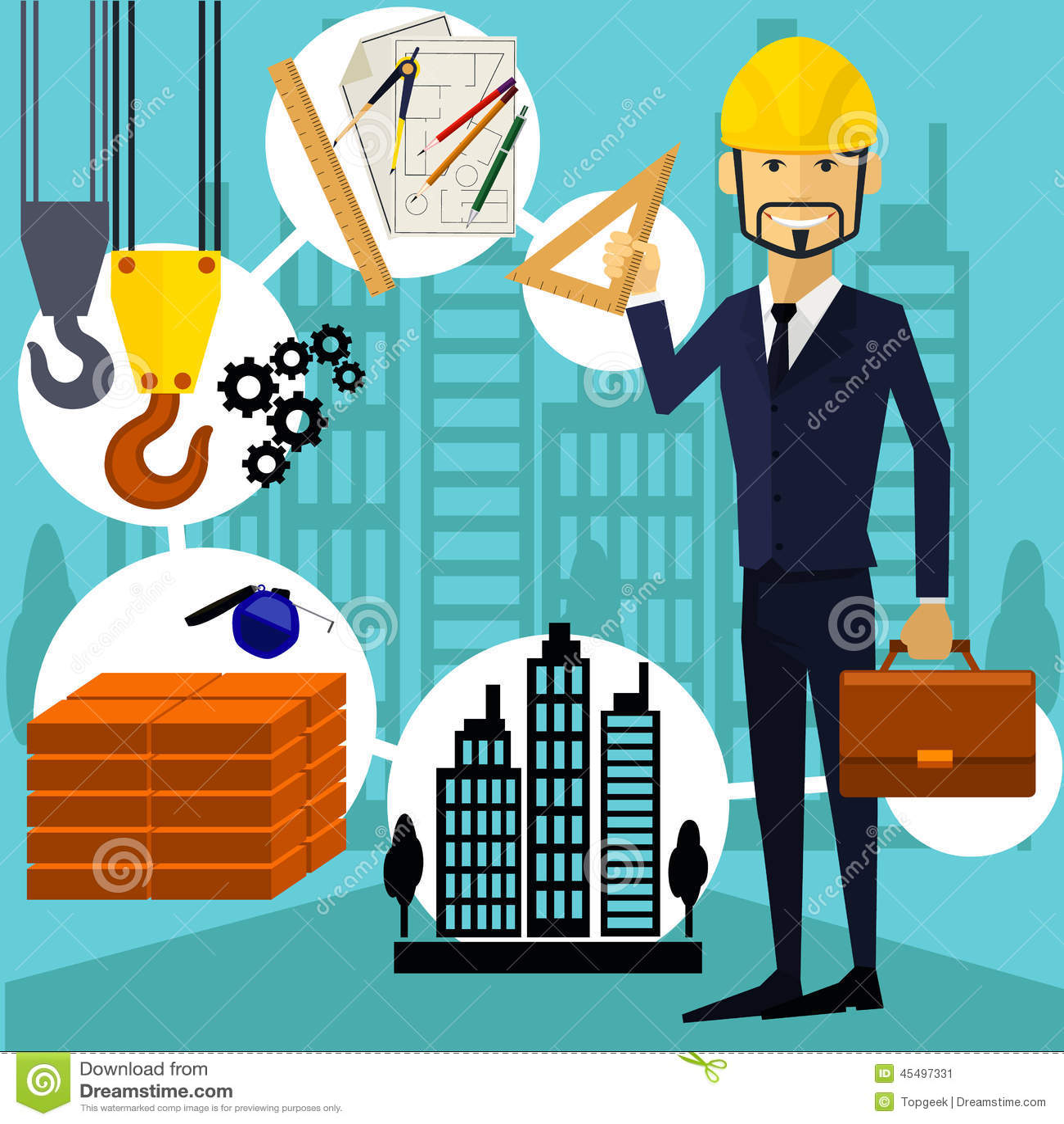 Trabajador del constructor del arquitecto en su lugar de for Arquitecto constructor