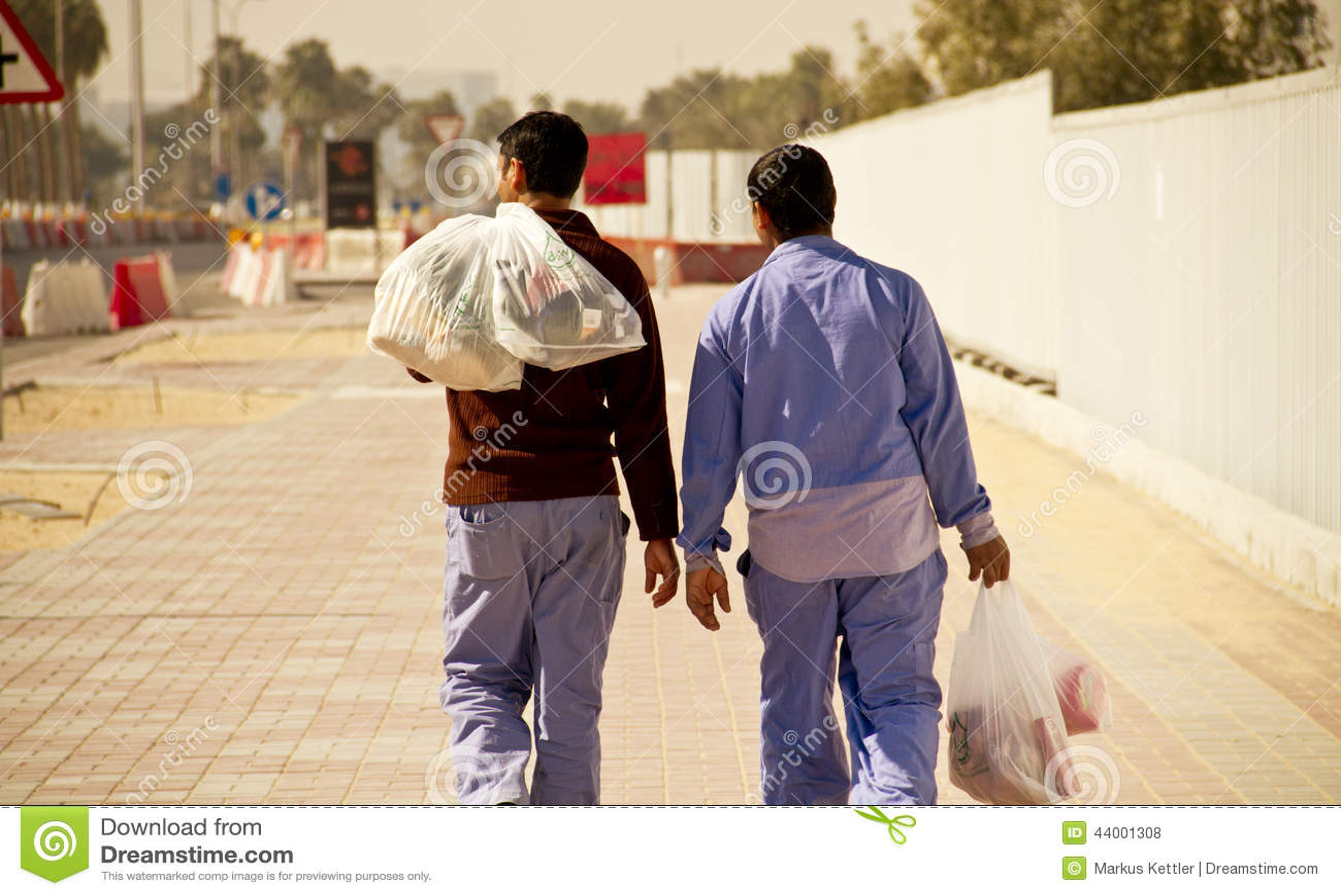 Trabajadores emigrantes en Doha, Qatar