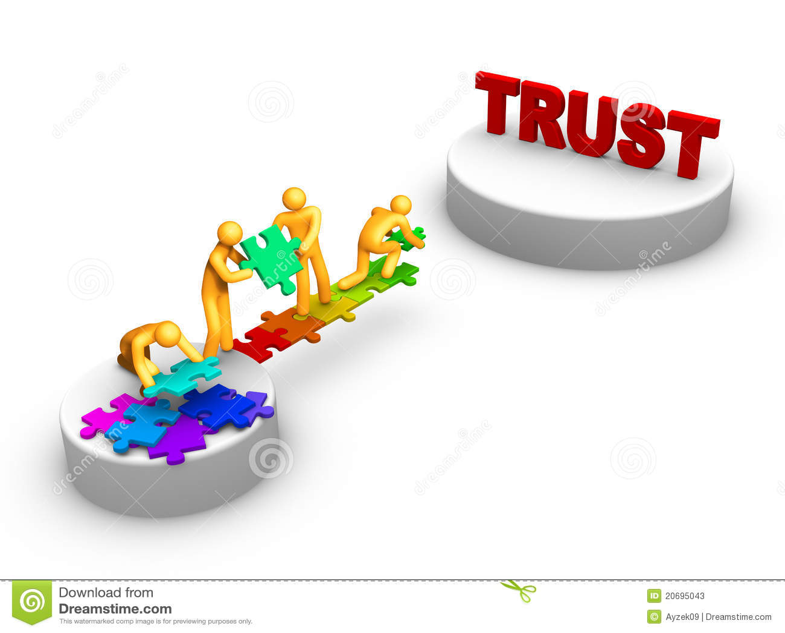 Trabajo de las personas para la confianza