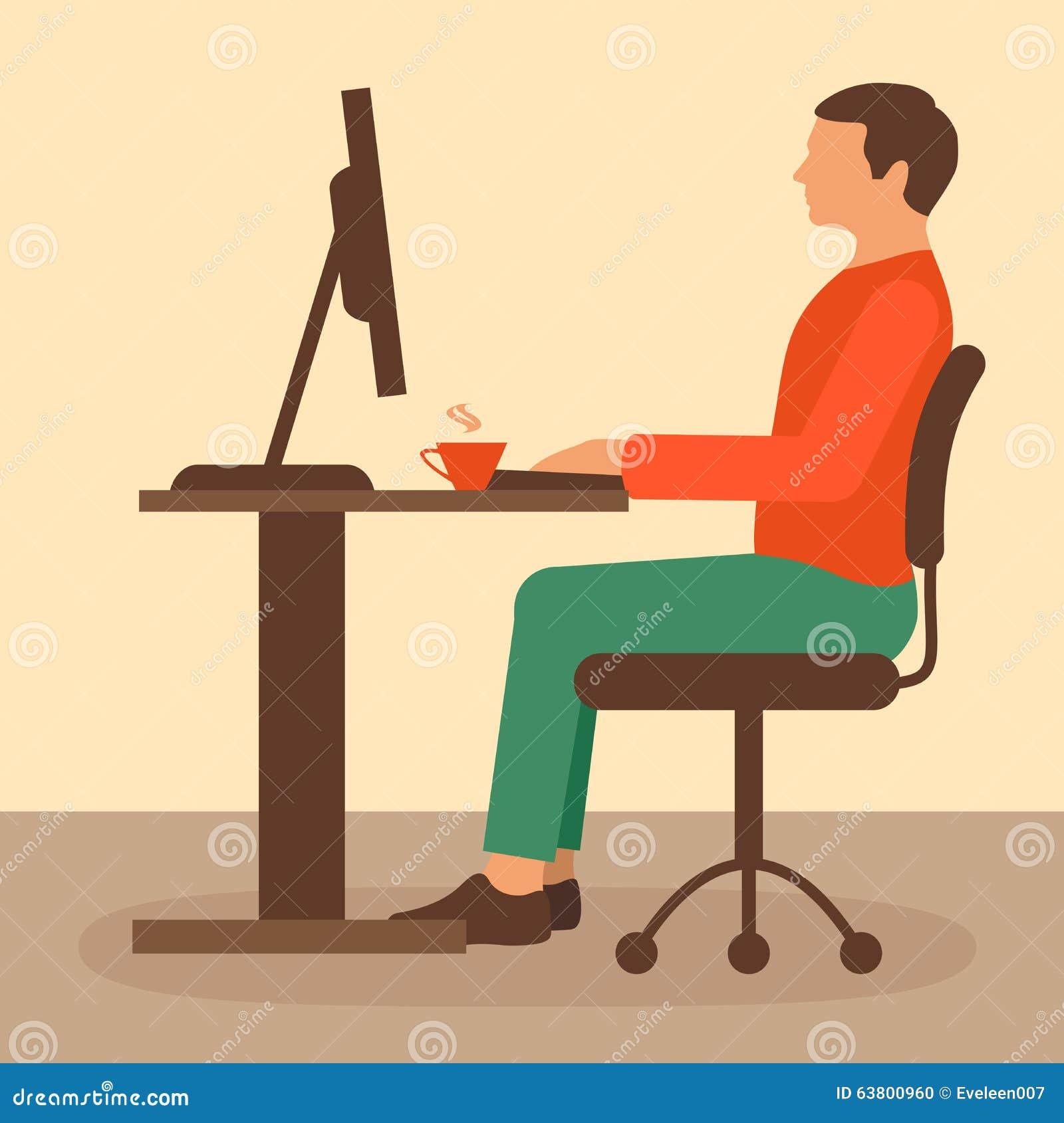 Trabajo de oficina trabajador del escritorio ilustraci n - Escritorio de trabajo ...