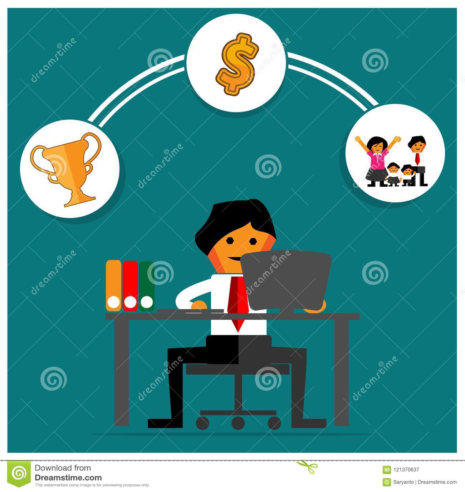 Trabajo del propósito y hombre de negocios Esta plantilla del tema está mostrando que el concepto de trabajo del propósito es din