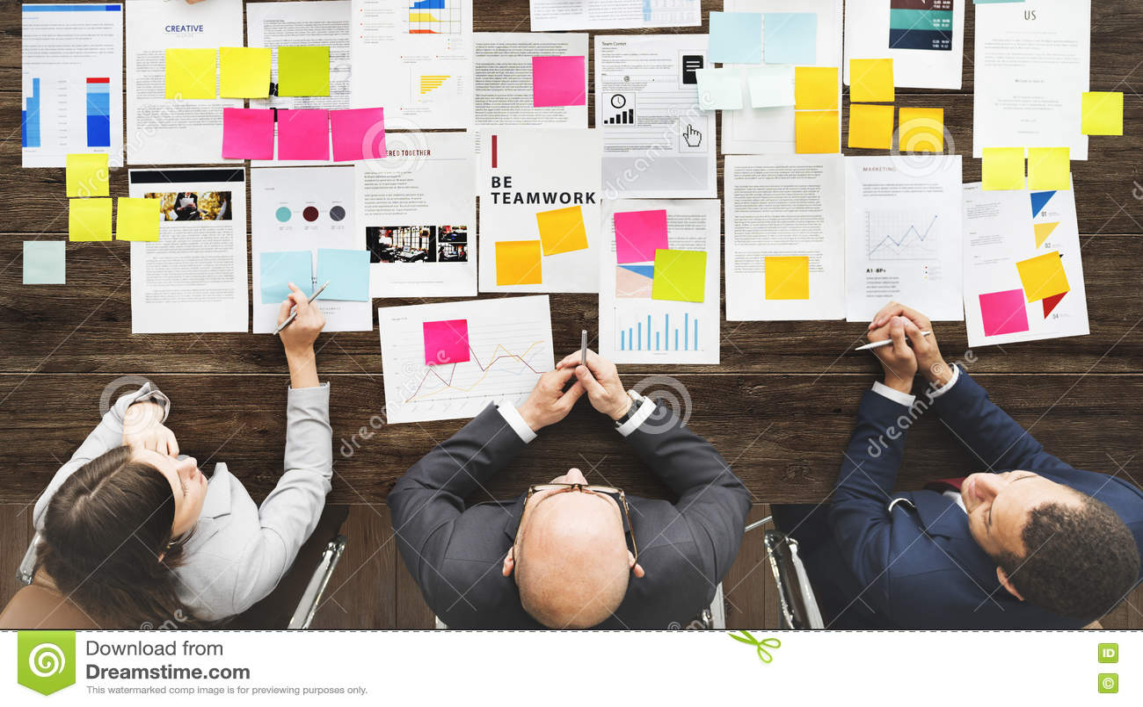 Trabajo en equipo Team Meeting Business Brainstorming Concept