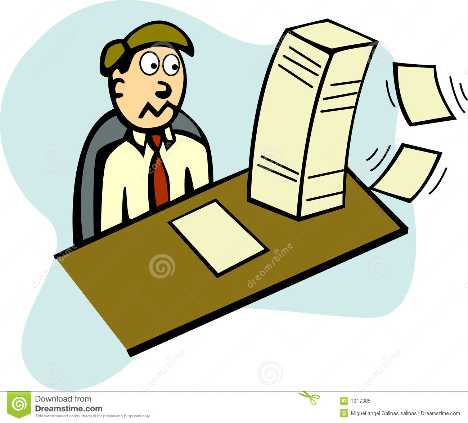 Trabajo en la oficina ilustraci n del vector imagen de for Oficina trabajo temporal