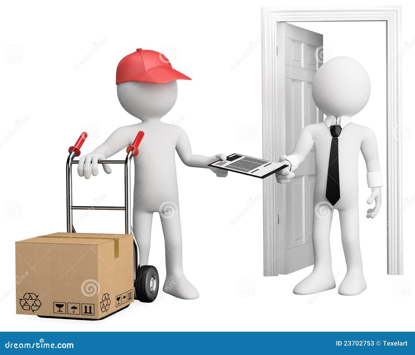 trabalhador 3d que entrega um pacote fotos de stock imagem 23702753. Black Bedroom Furniture Sets. Home Design Ideas