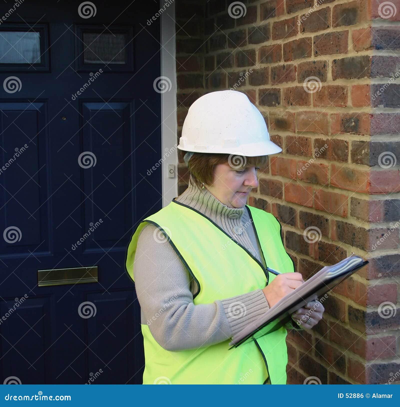 Trabalhador da construção fêmea