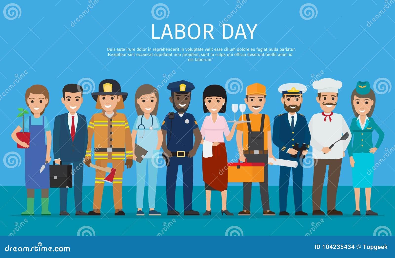 Trabalhador do Dia do Trabalhador no desenho azul dos desenhos animados