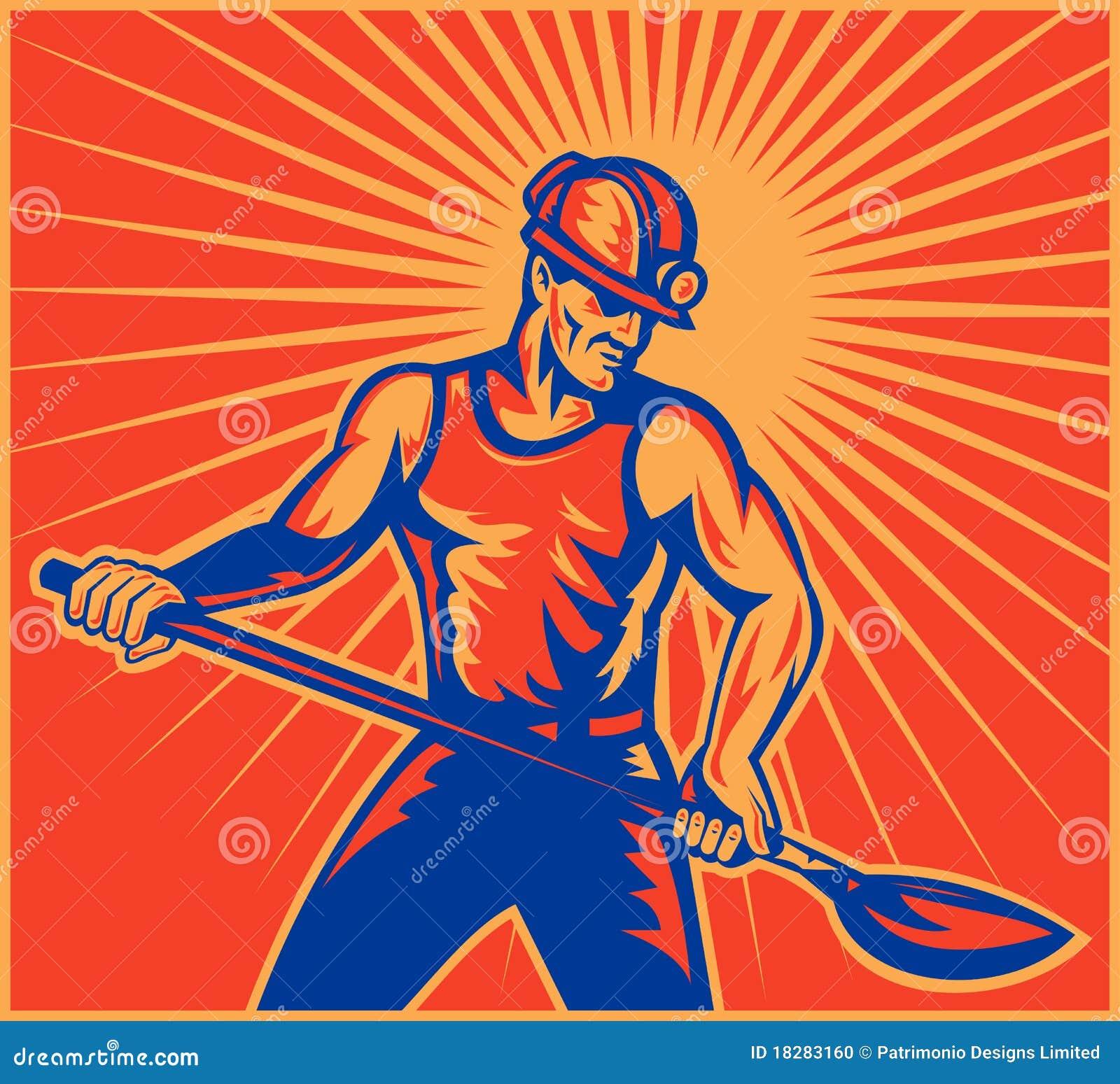 Trabalhador do mineiro de carvão no trabalho