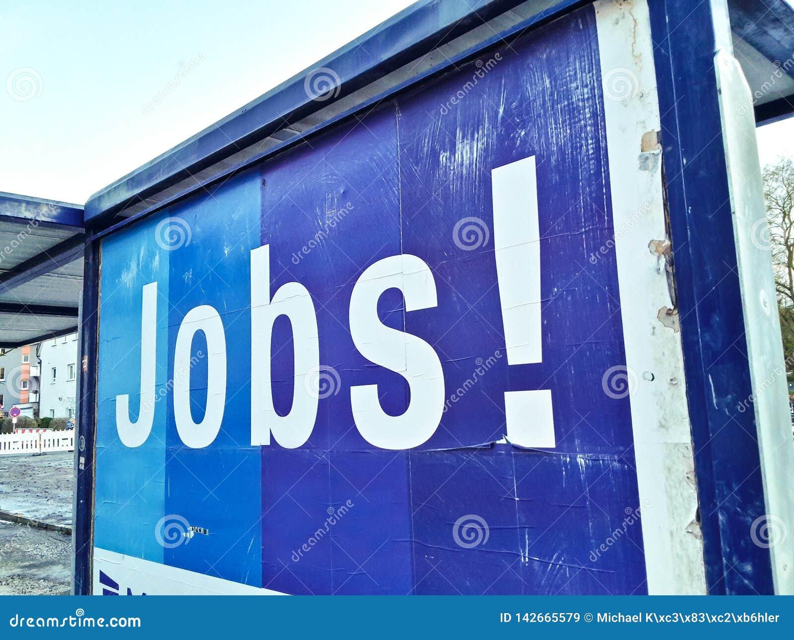 Trabalhador do trabalho de trabalhos do cartaz da propaganda da aplicação de trabalhos