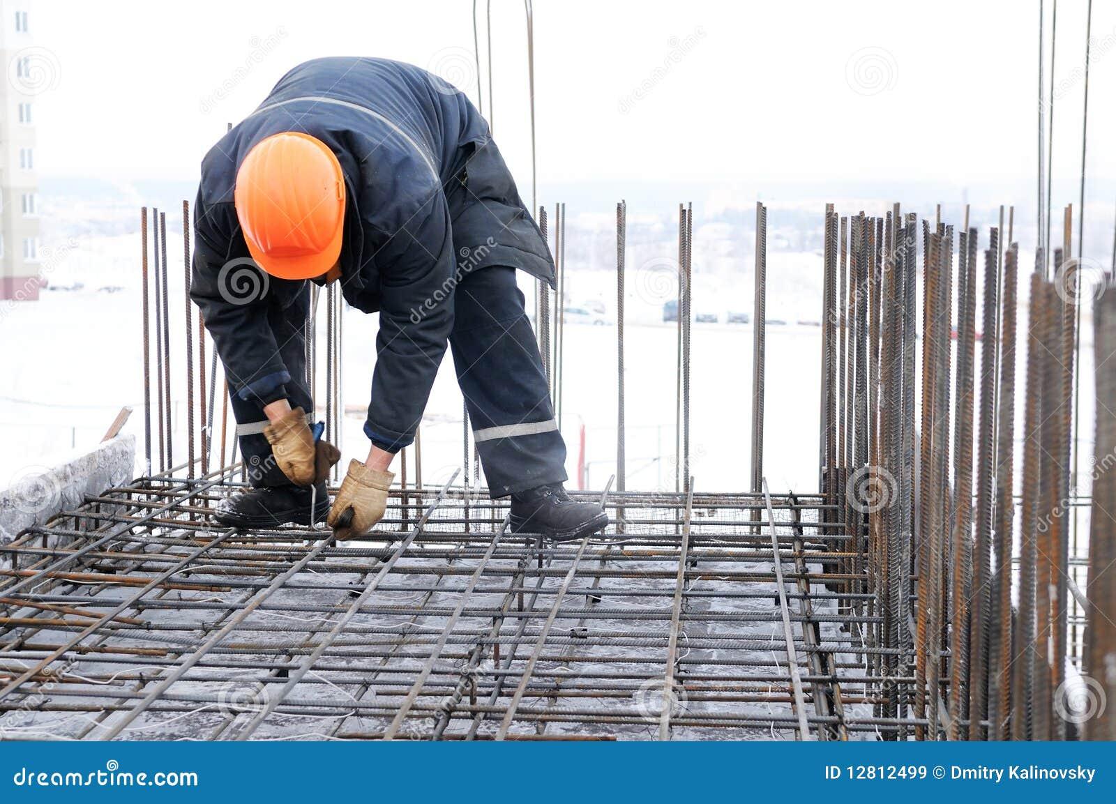 Trabalhador no canteiro de obras