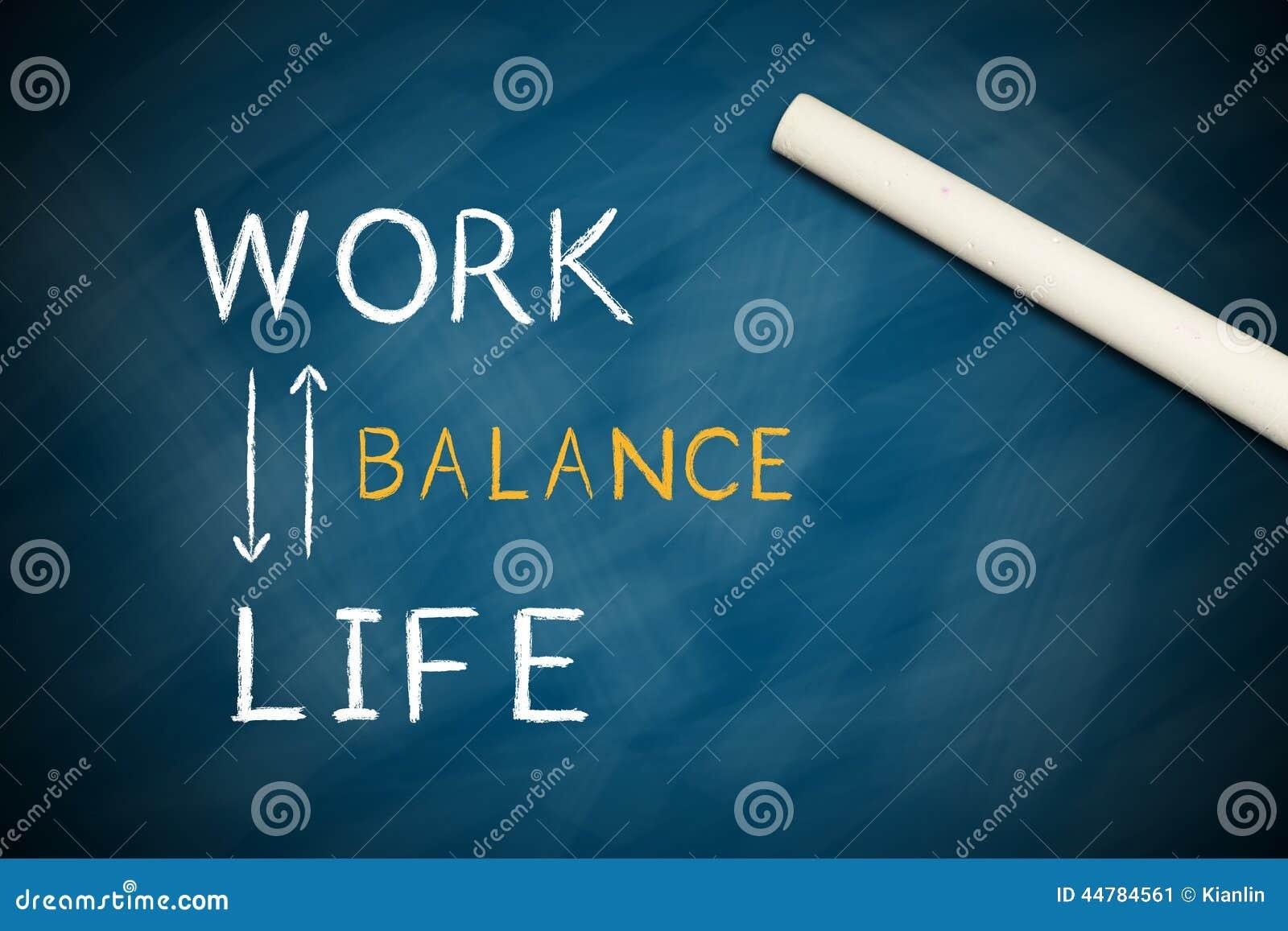 Trabalhe o balanço da vida