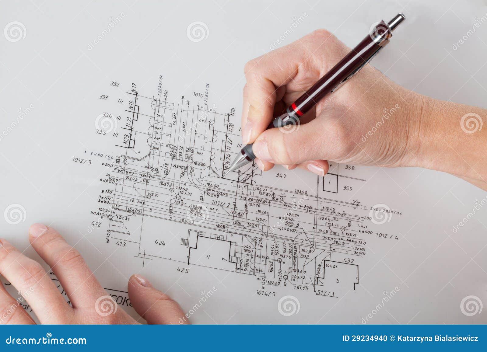 Download Trabalho com projeto ilustração stock. Ilustração de desenhador - 29234940