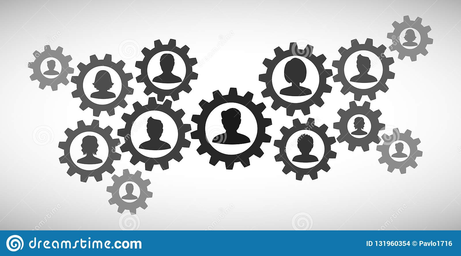 Trabalhos de equipa do conceito, pessoal, parceria - para o estoque