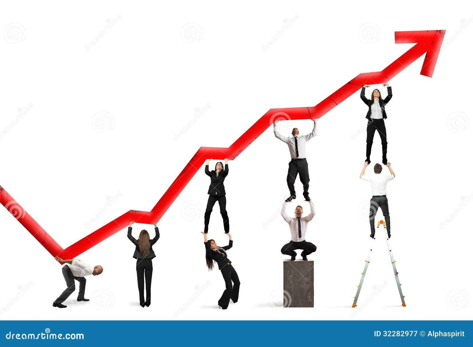 Trabalhos de equipa e lucro incorporado