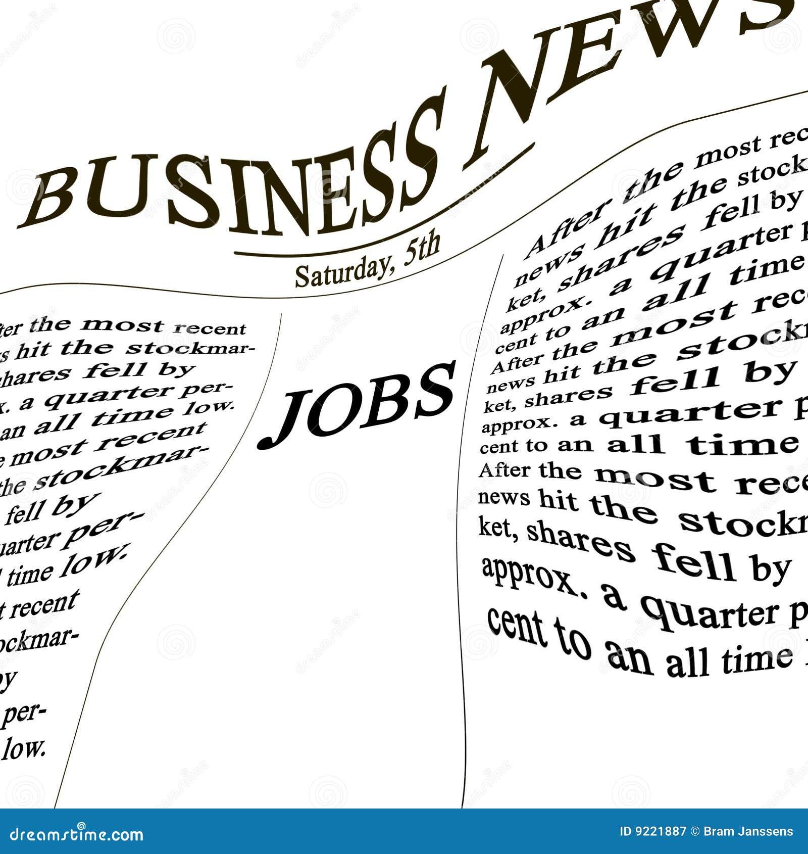 Trabalhos no papel da notícia
