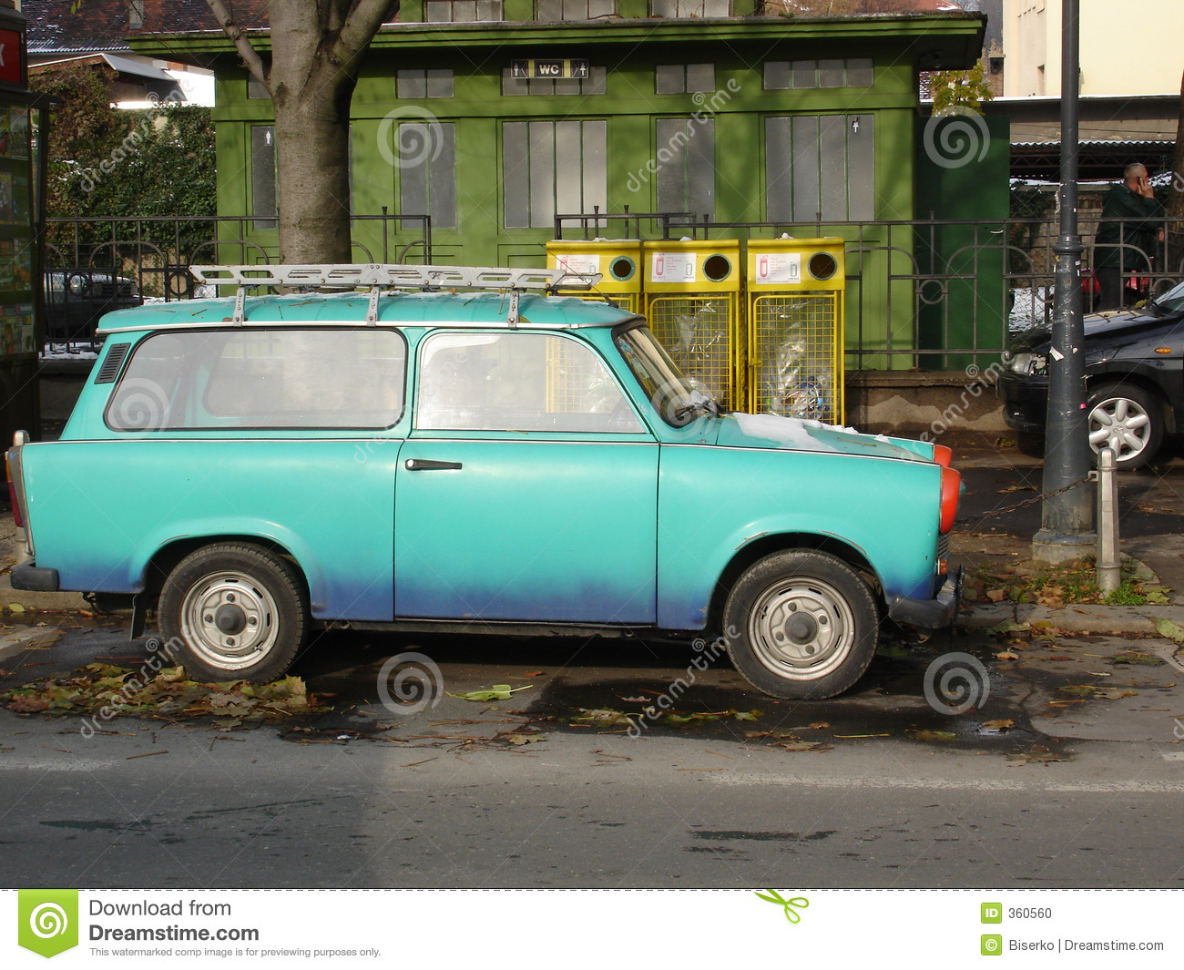 East German Car Stock Photo