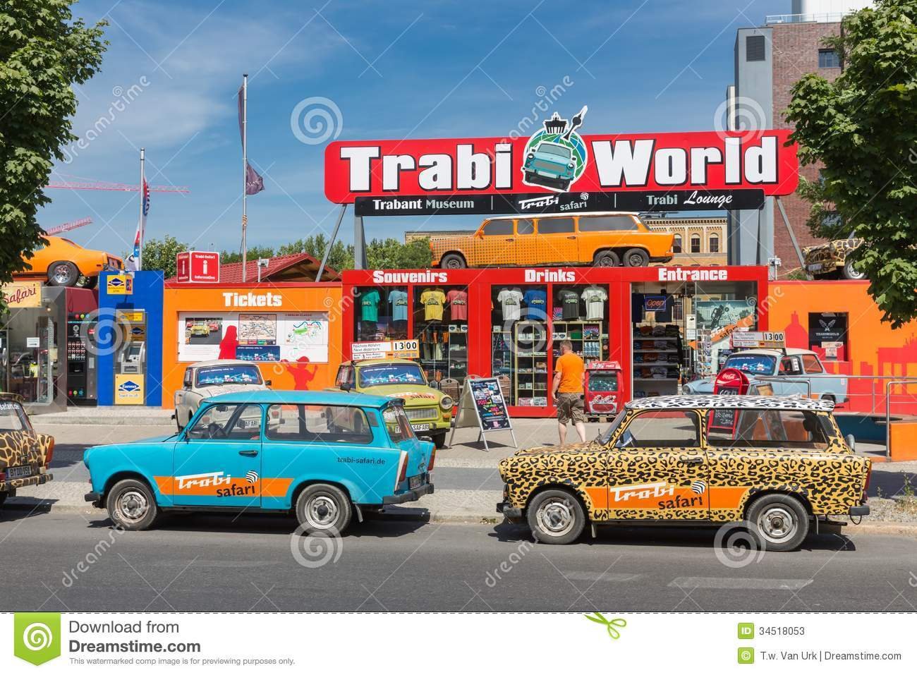 trabant museum and also renting a car for a trabant safari in the center of berlin editorial. Black Bedroom Furniture Sets. Home Design Ideas