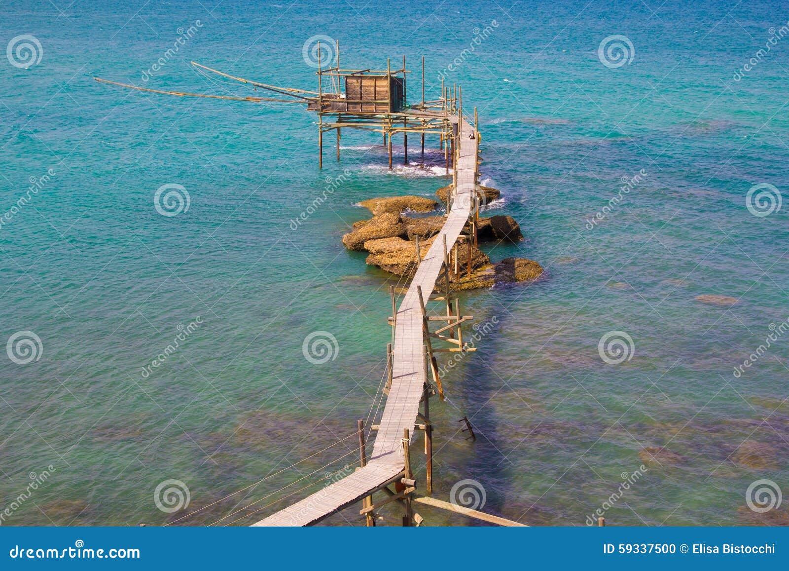 Trabocco of Punta Aderci, Abruzzo coast