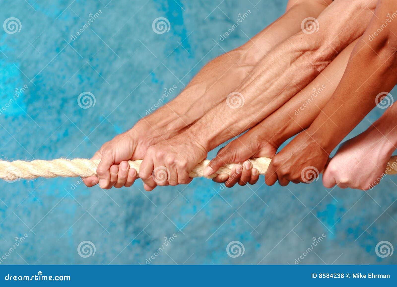 Tracción de las manos