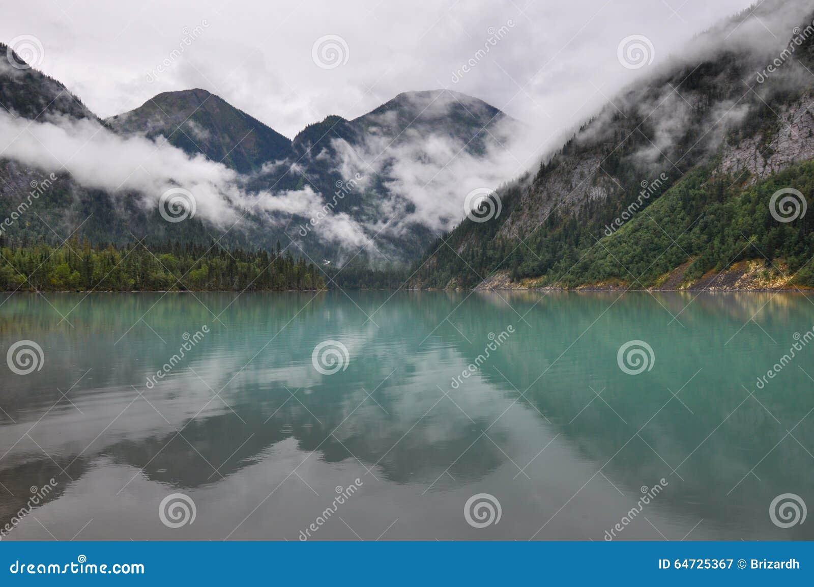 Traccia del lago berg, Columbia Britannica, Canada