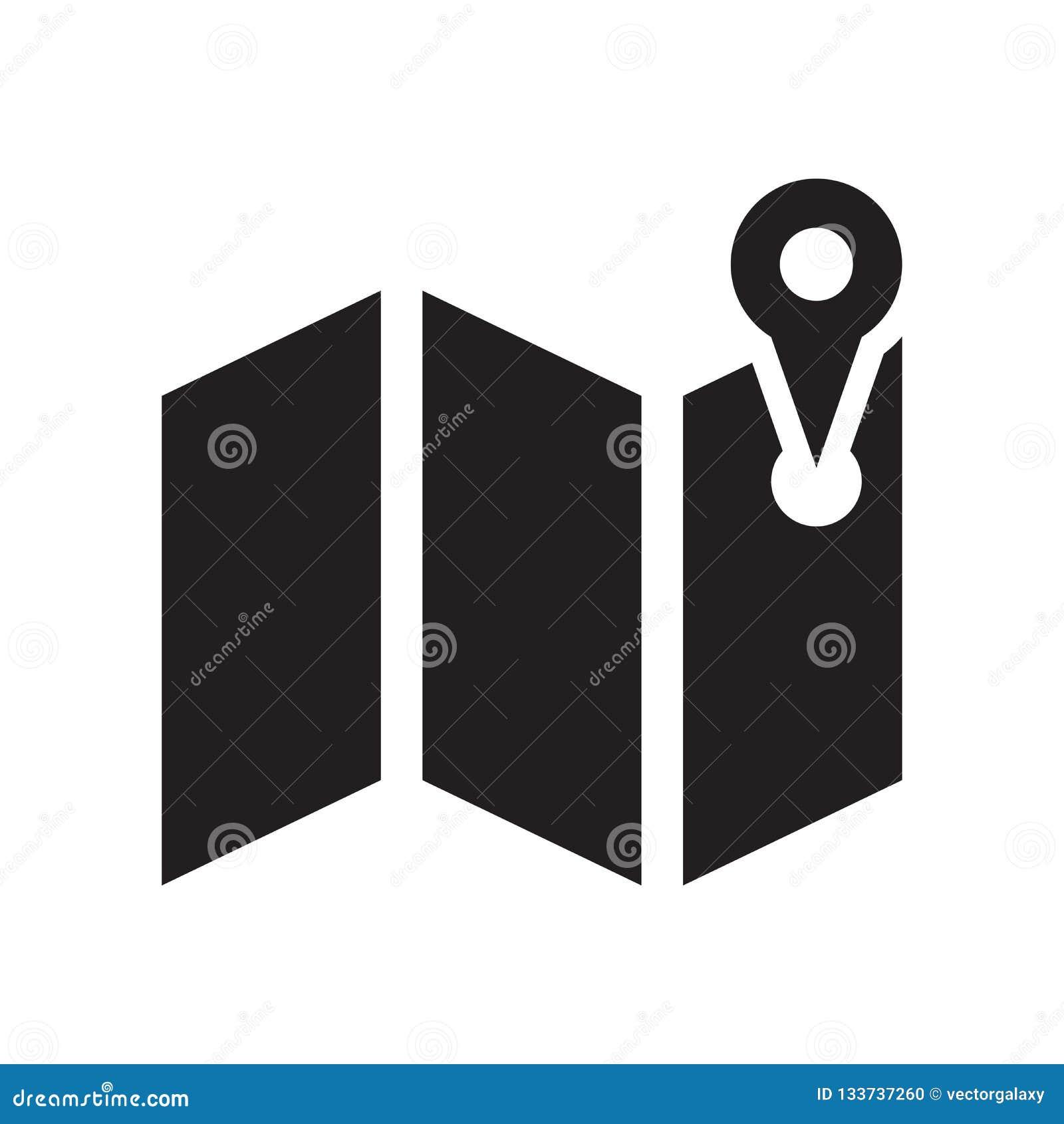 Trace la muestra y el símbolo del vector del icono aislados en el fondo blanco, mA