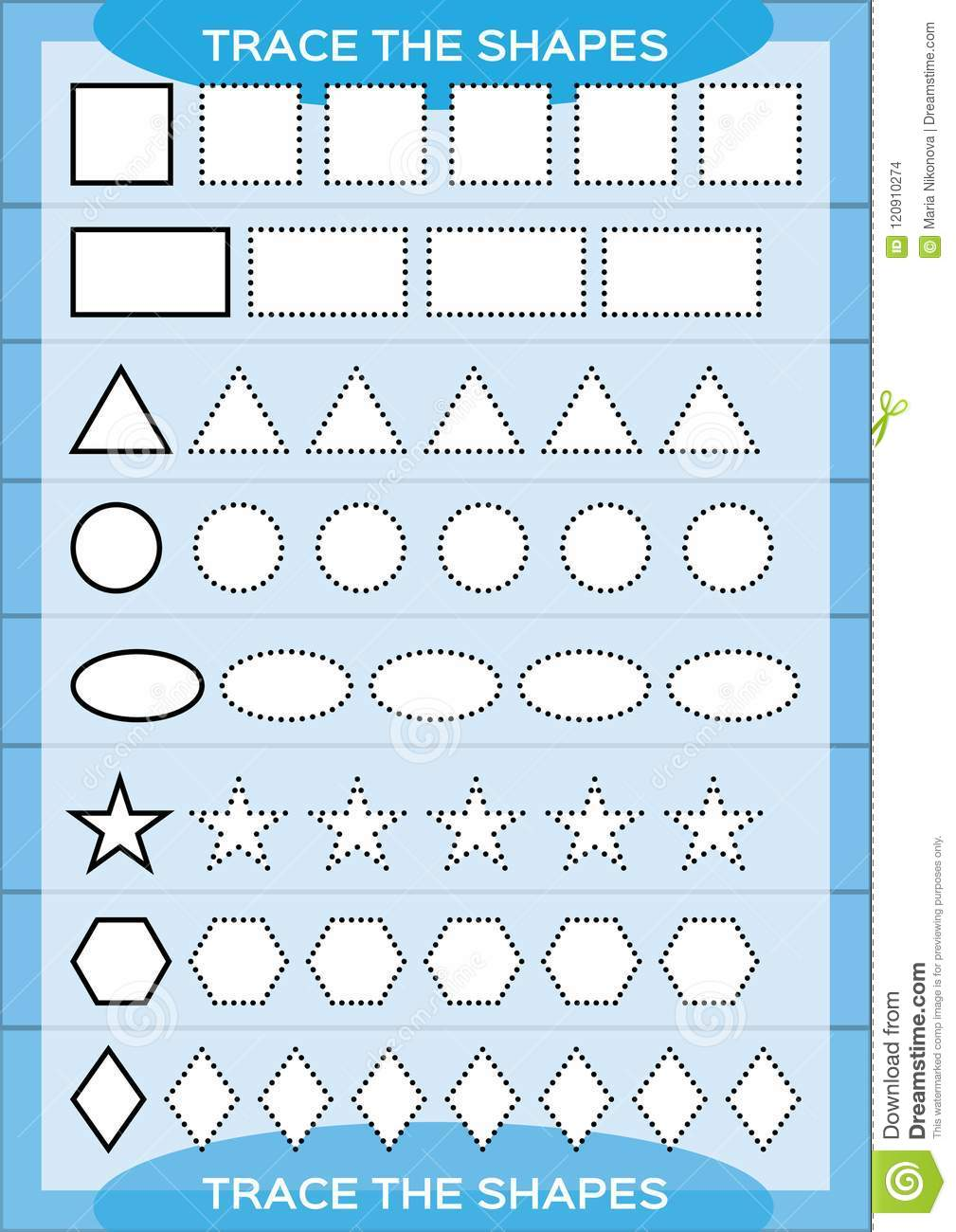 trace the shapes kids education preschool worksheet basic writing kids doing worksheets. Black Bedroom Furniture Sets. Home Design Ideas