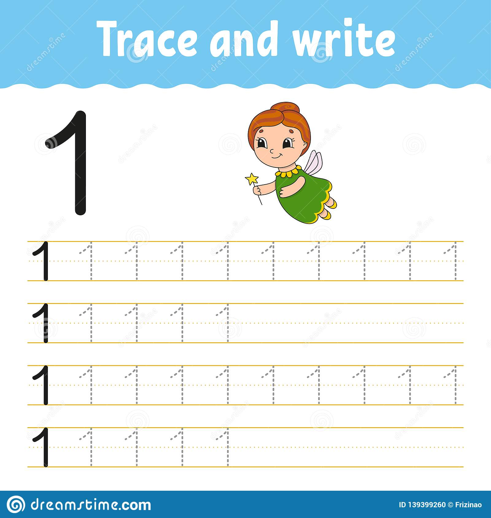 Trace And Write. Handwriting Practice. Learning Numbers For ...