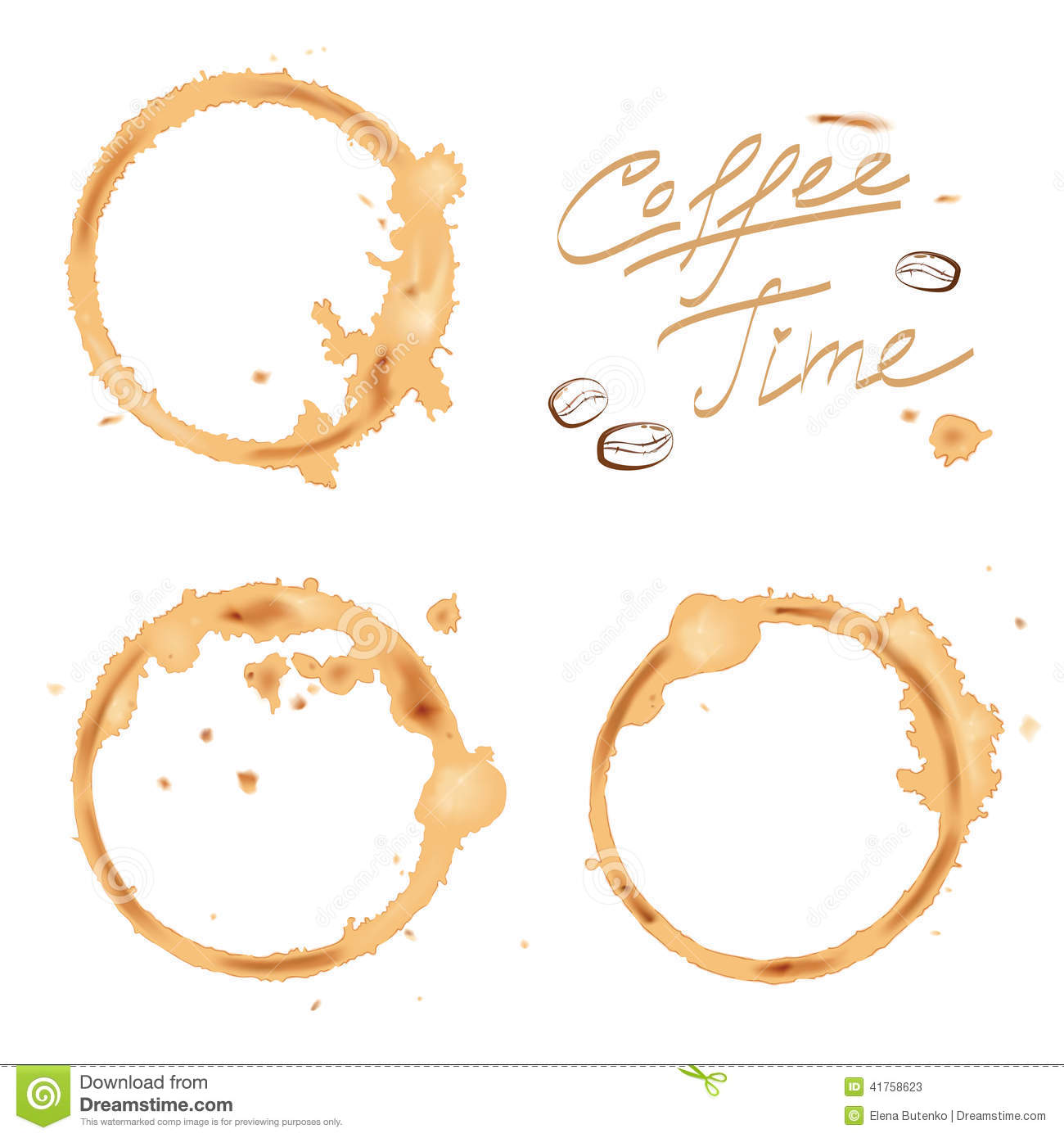 Traces Coffee Stock Vector Image 41758623