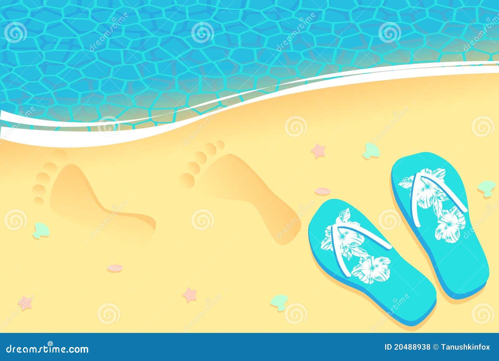 Traces sur le sable
