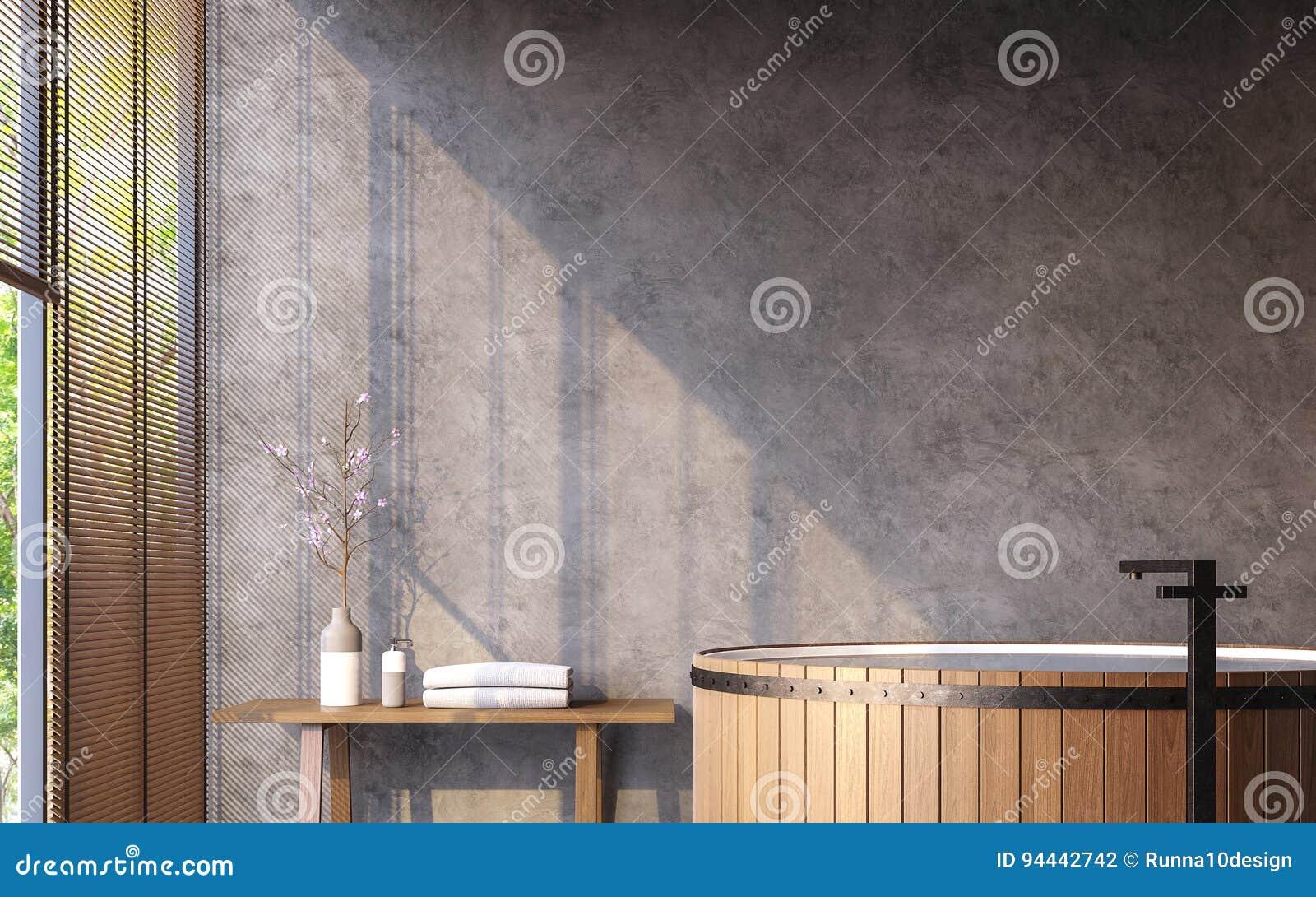 Tracez La Salle De Bains De Style Avec L Image De Rendu De La Vue 3d