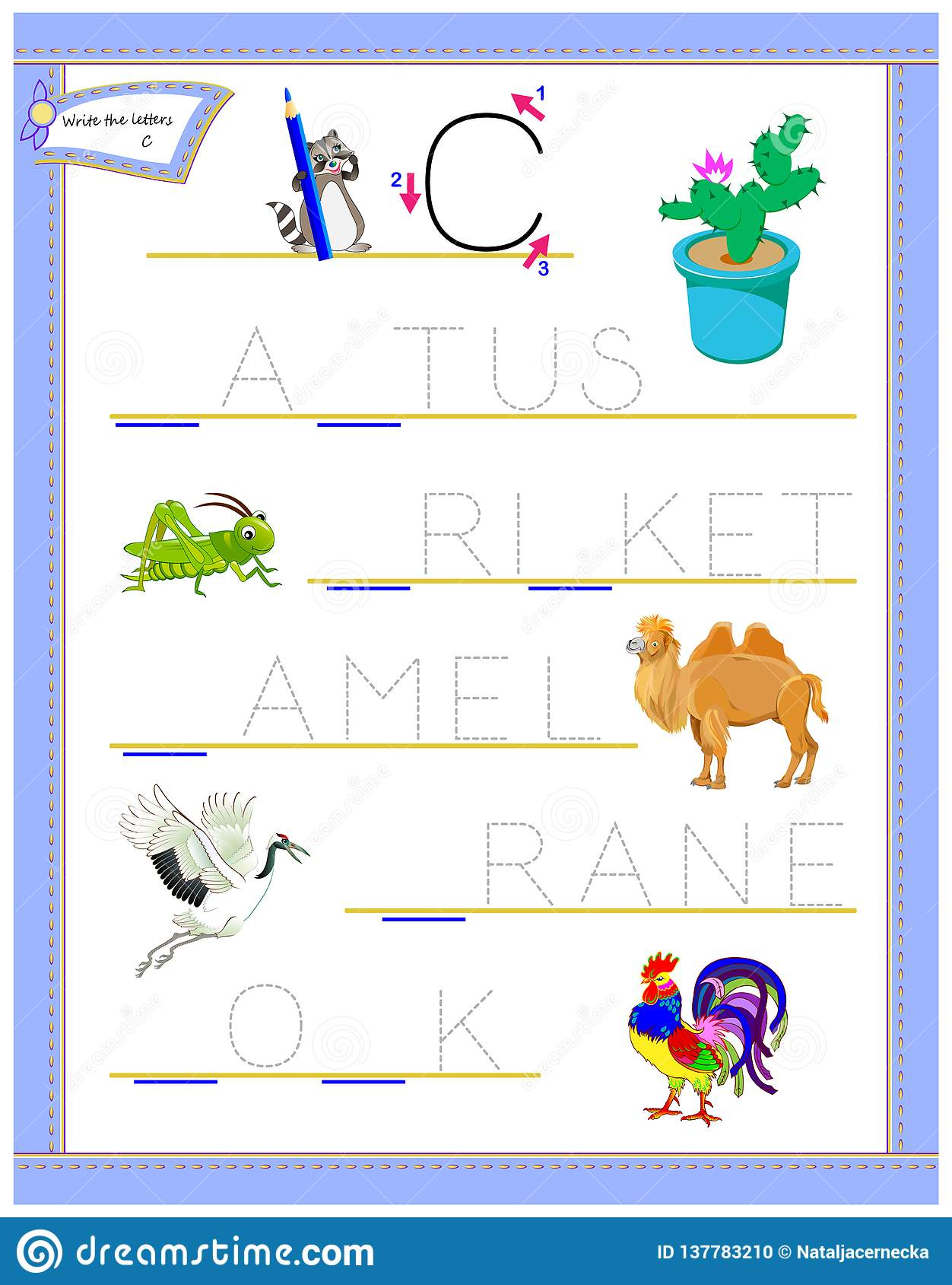 photo relating to Logic Puzzle for Kids Printable known as Tracing Letter C For Analysis English Alphabet. Printable