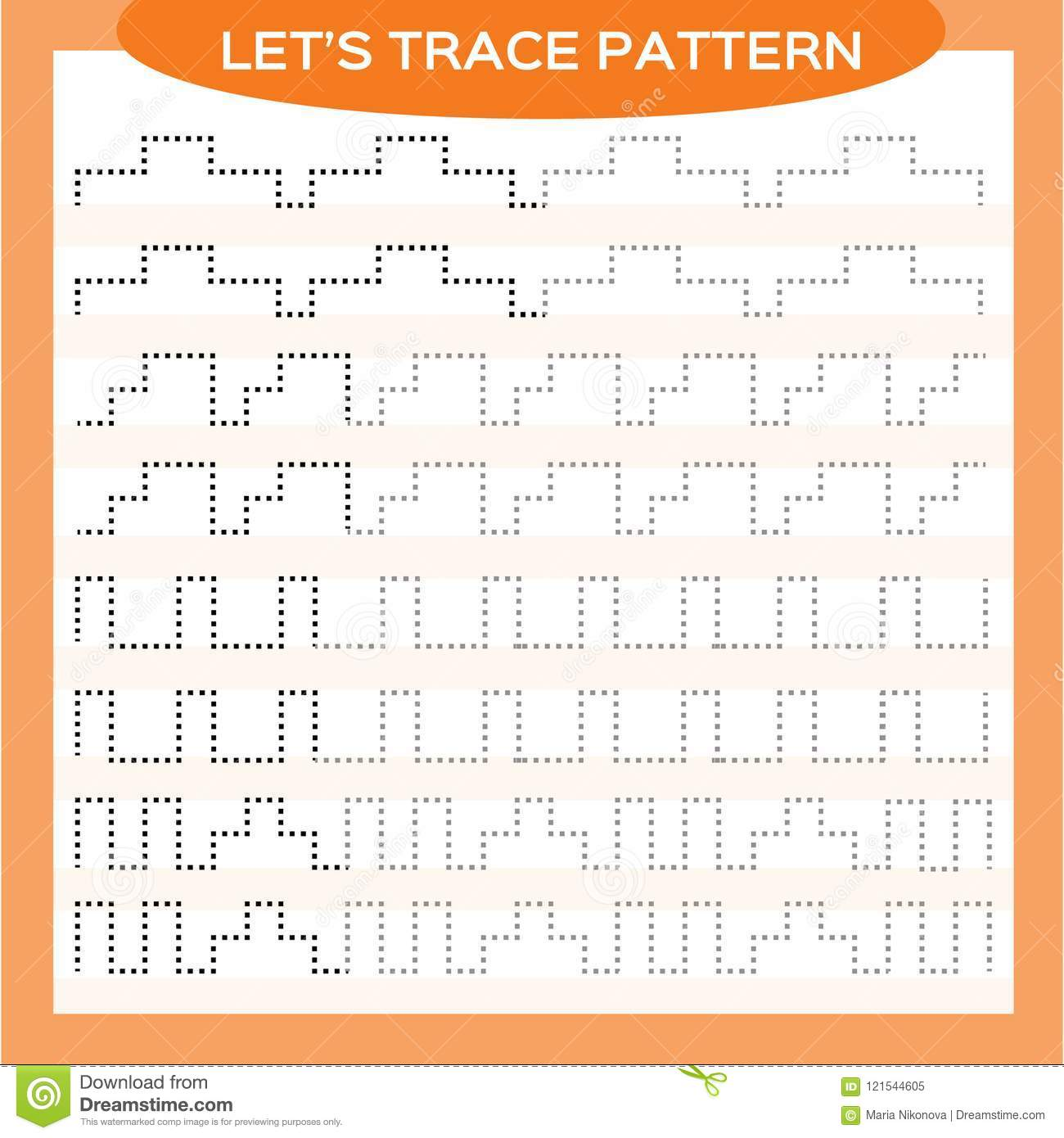 Tracing Lines Activity For Early Years. Special For Preschool Kids ...