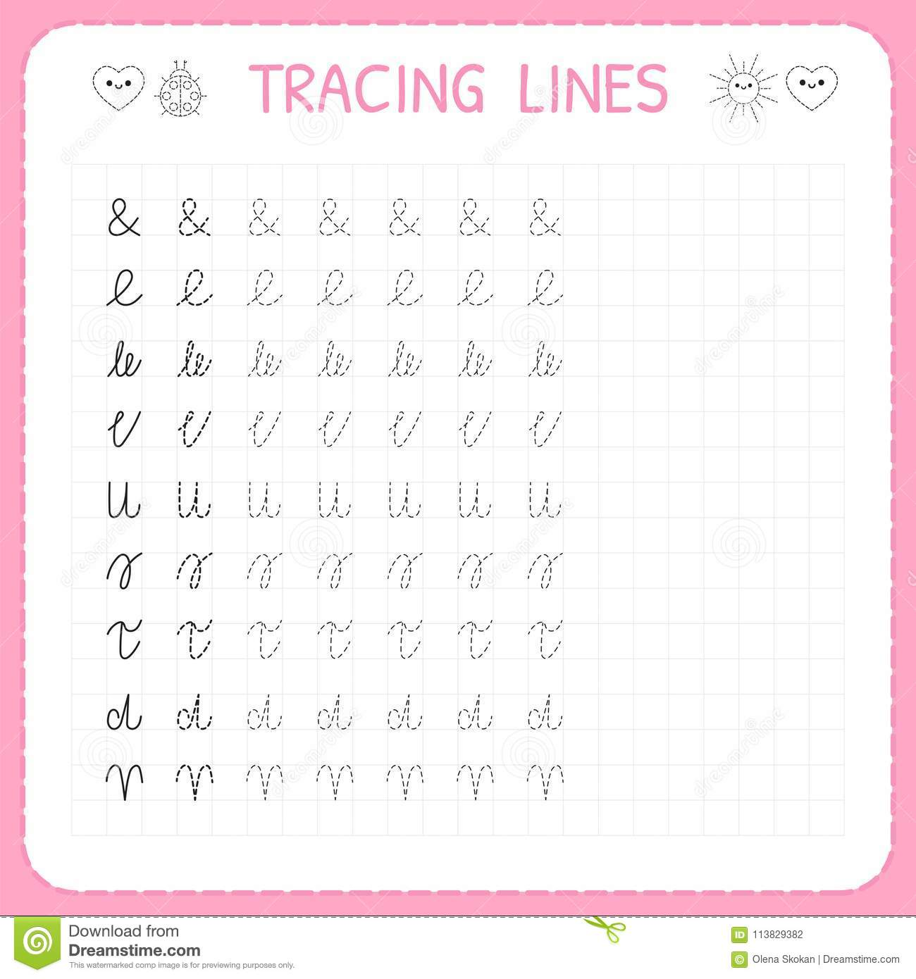 Tracing lines basic writing worksheet for kids working pages for basic writing worksheet for kids working pages for children preschool ibookread Download