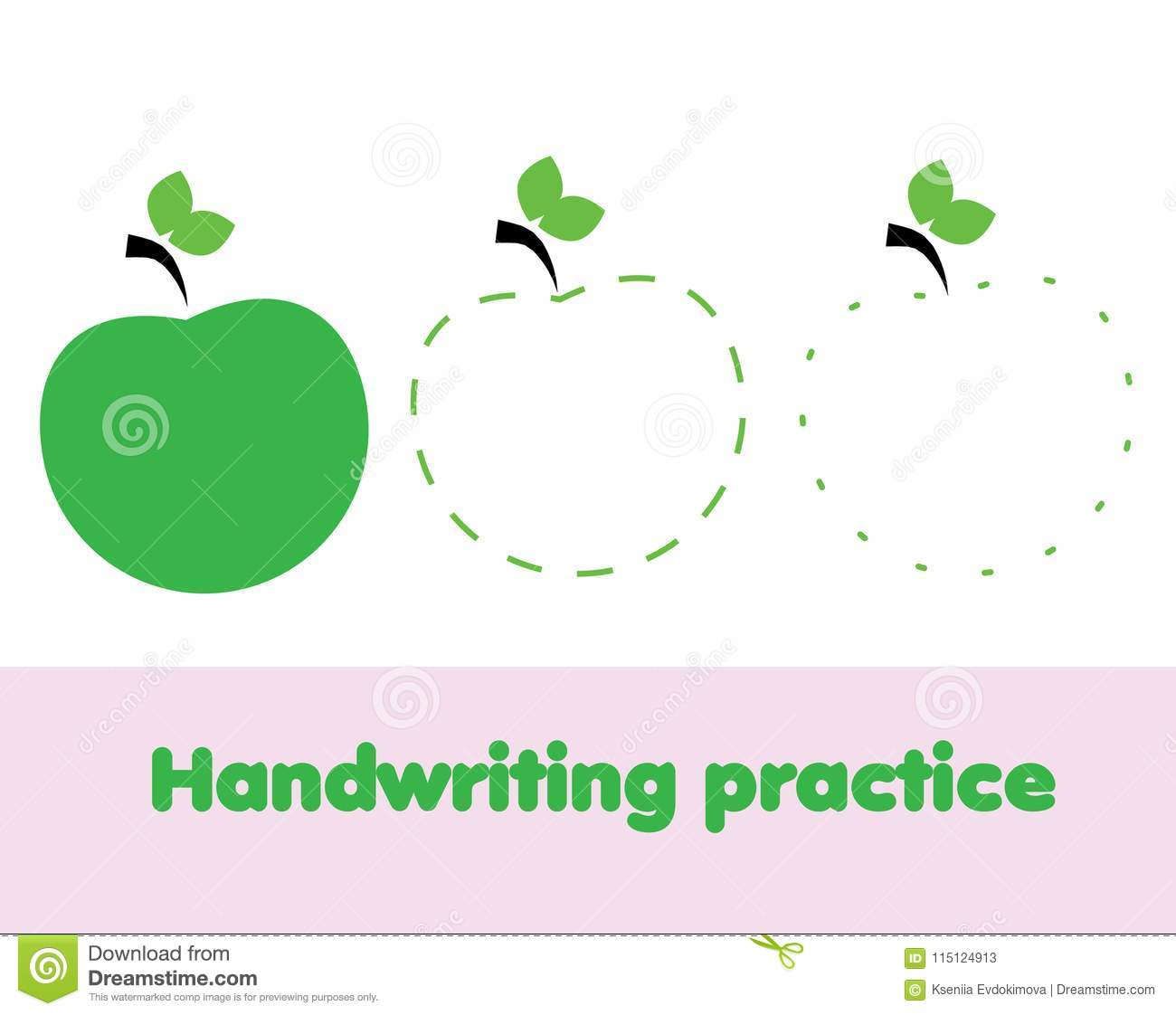 image about Apple Printable identified as Tracing Strains For Infants. Handwriting Educate Sheet