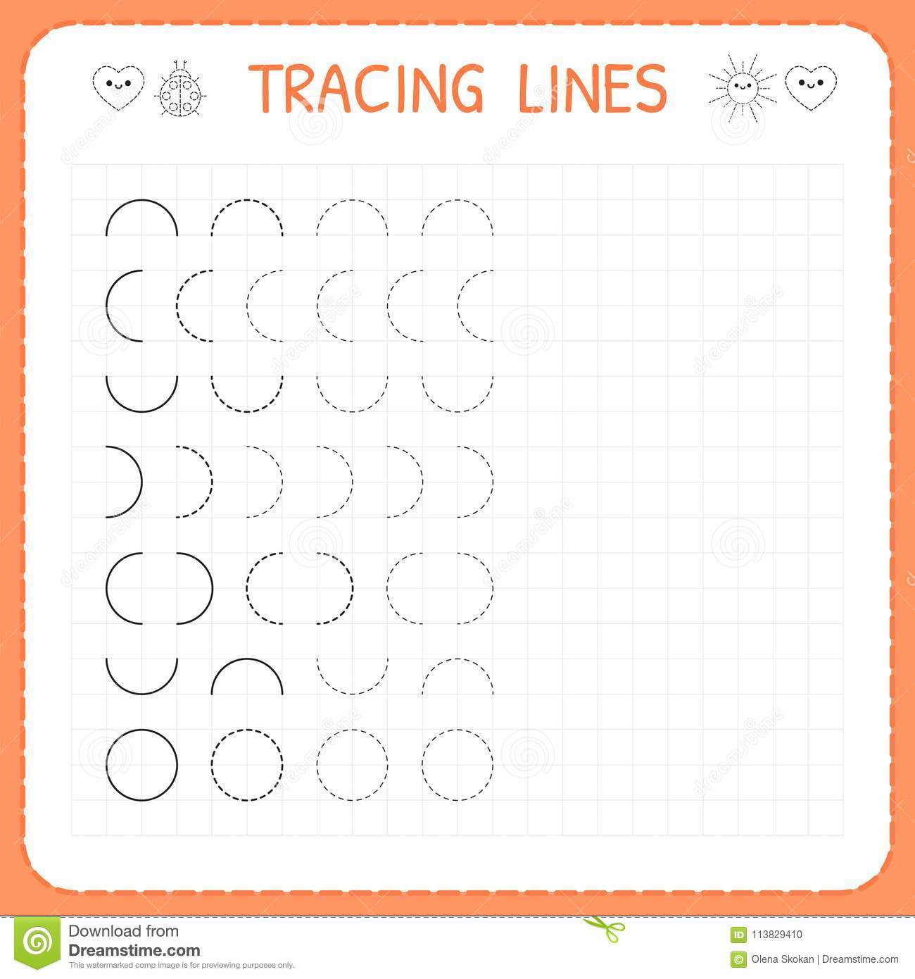 photograph relating to Tracing Lines Worksheets Printable called Tracing Traces. Worksheet For Small children. Uncomplicated Producing. Operating