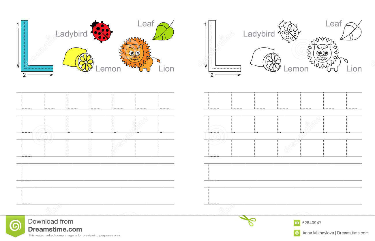 Free Printable Letter L Tracing Worksheets