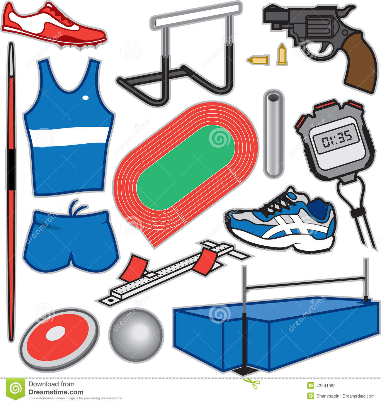 Track And Field Items ...
