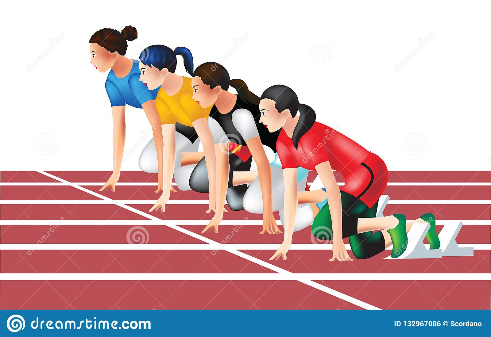 It's just a graphic of Slobbery Track And Field Drawing