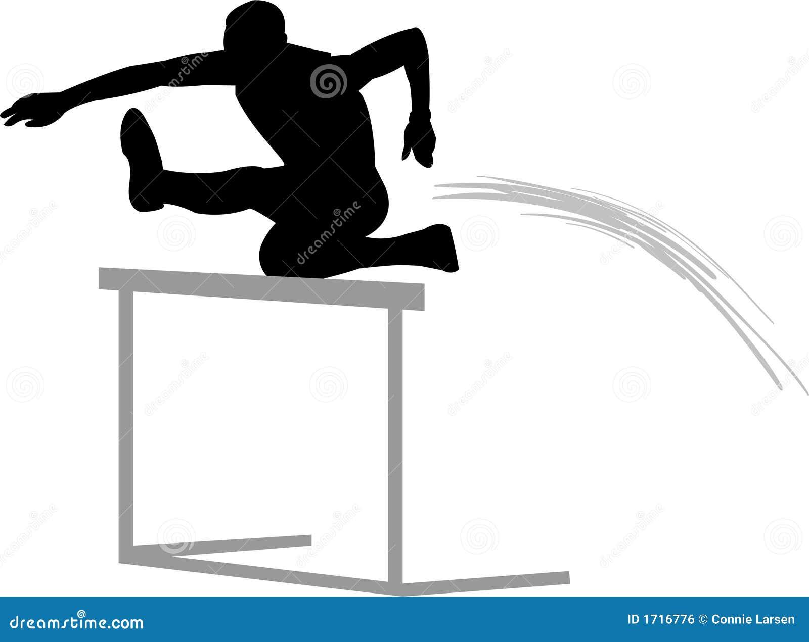 Track Hurdler Track And Field Clipart Hurdles