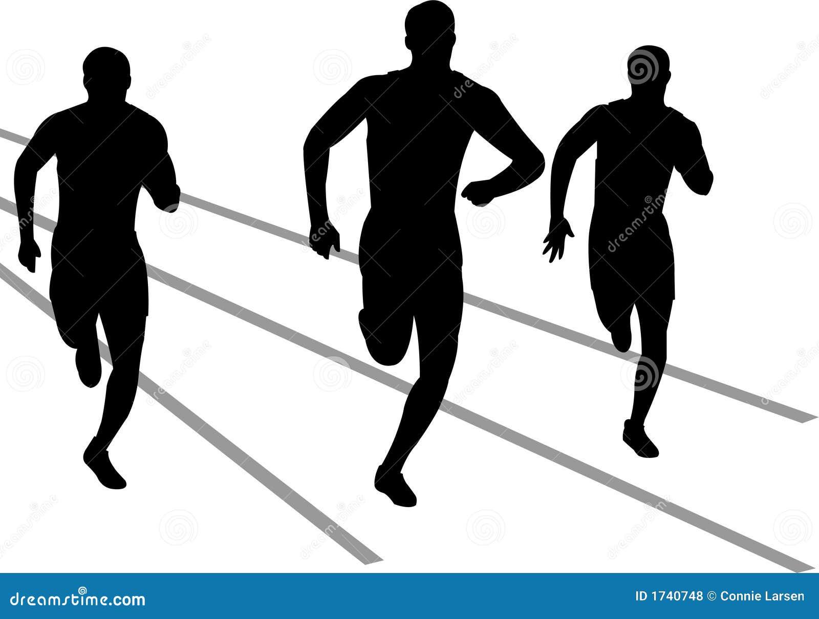 Track Runners/eps Stock Vector. Illustration Of