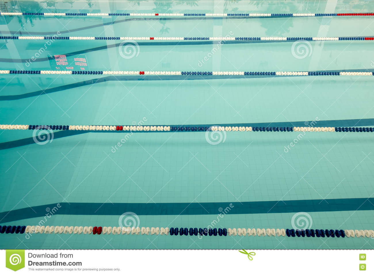 Track Swimming Pool With Turquoise Water Before A Competition Stock Photo Image 73173556