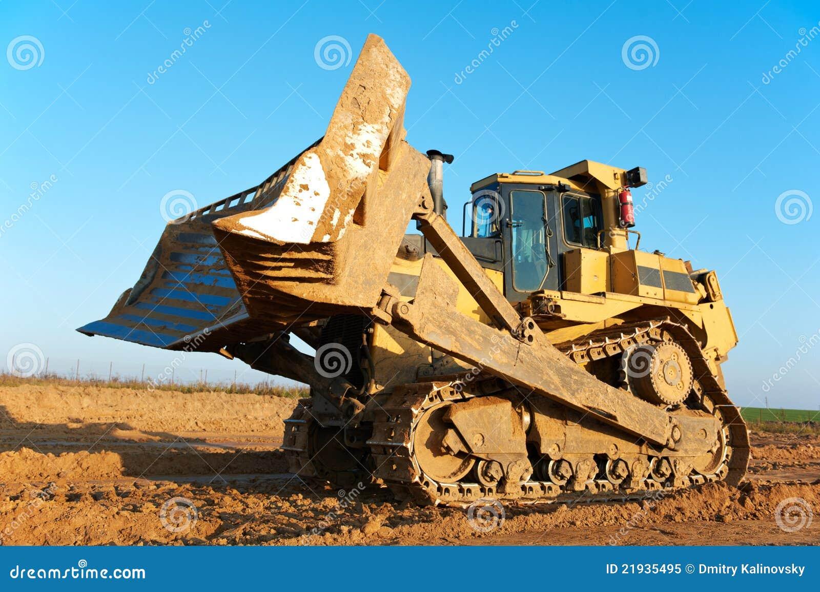 Track Type Bulldozer Loader Royalty Free Stock Photo
